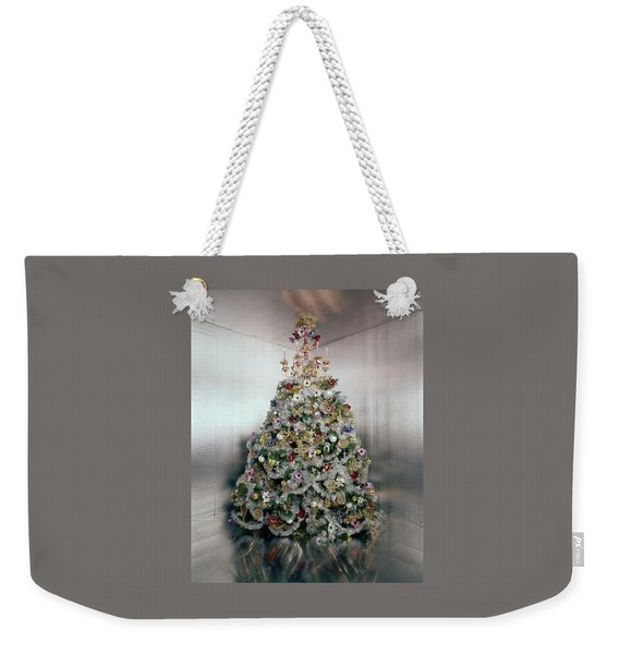 Christmas Tree Decorated By Gloria Vanderbilt Weekender Tote Bag