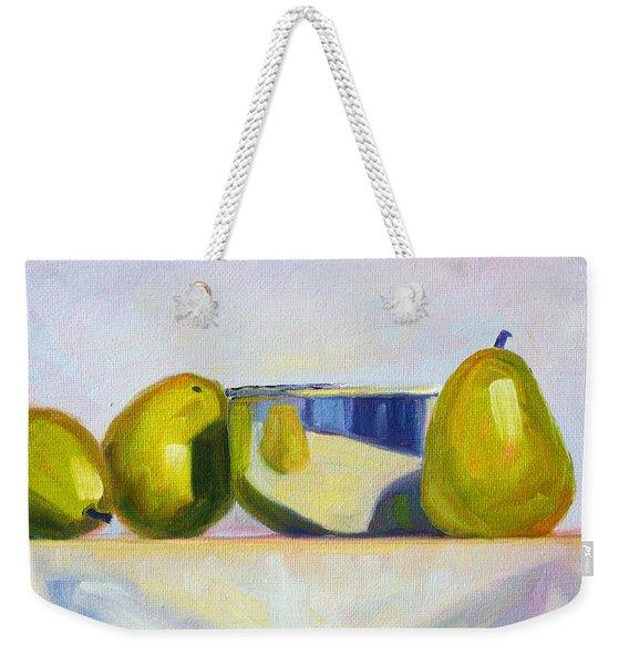 Chrome And Pears Weekender Tote Bag