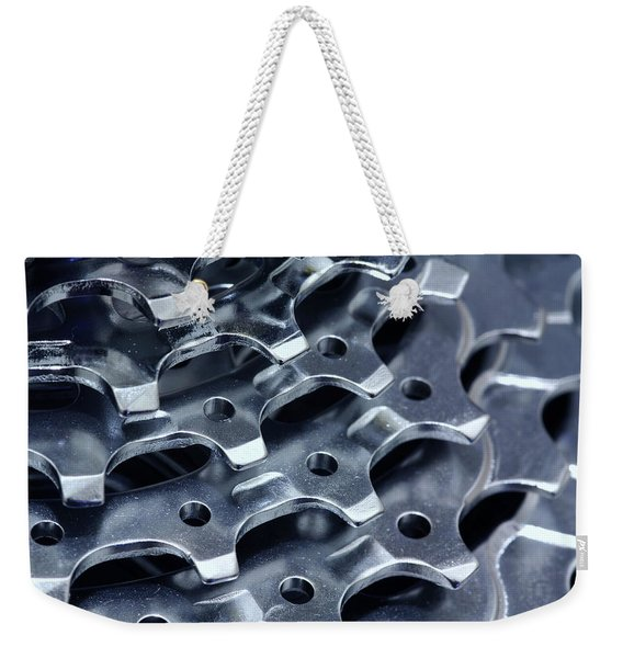 Chromed Shiny Gear Shift Weekender Tote Bag