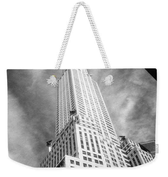 Chrysler Building Infrared Weekender Tote Bag