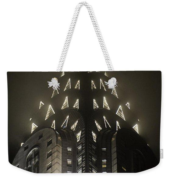 Chrysler Fog Lights Weekender Tote Bag