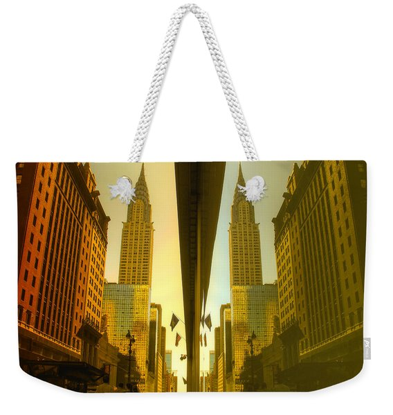 Chrysler Reflection On 42nd Street Weekender Tote Bag
