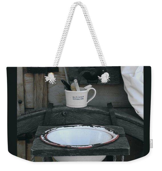 Chuckwagon Wash Basin Weekender Tote Bag