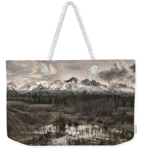 Chugach Mountain Range Weekender Tote Bag