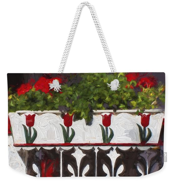 Church Camp House Detail Painterly Series 6 Weekender Tote Bag