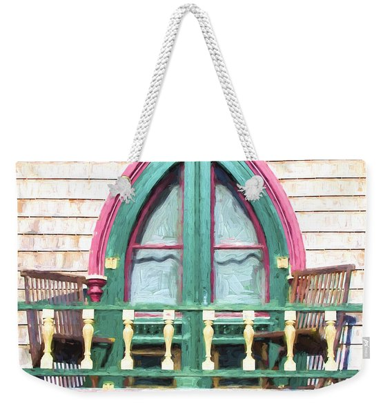Church Camp House Detail Painterly Series 8 Weekender Tote Bag