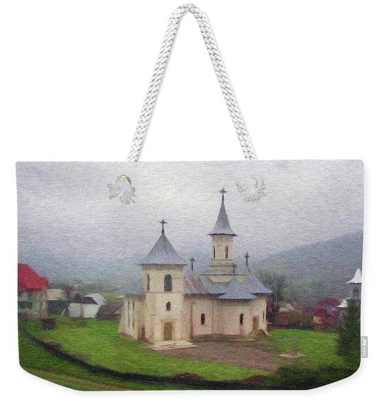 Church In The Mist Weekender Tote Bag