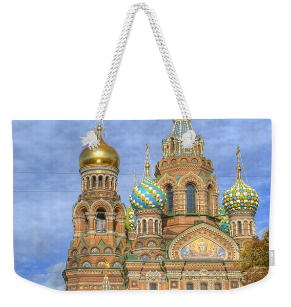 Church Of The Saviour On Spilled Blood. St. Petersburg. Russia Weekender Tote Bag