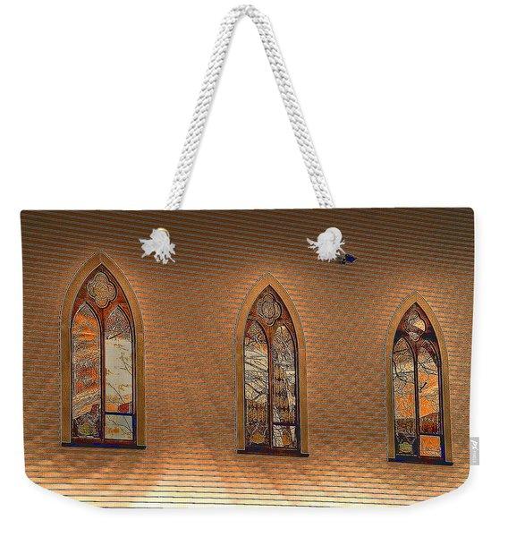 Church Windows Weekender Tote Bag
