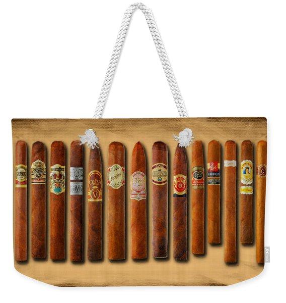 Cigar Sampler Painting Weekender Tote Bag