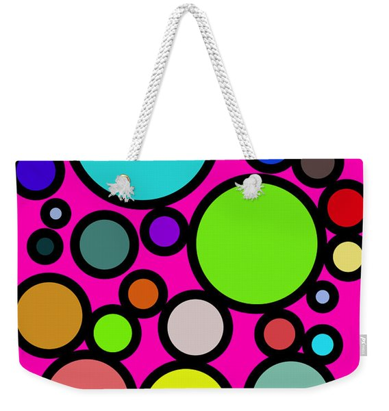 Circles Galore Weekender Tote Bag