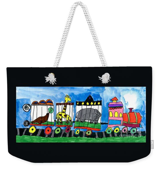 Circus Train Weekender Tote Bag