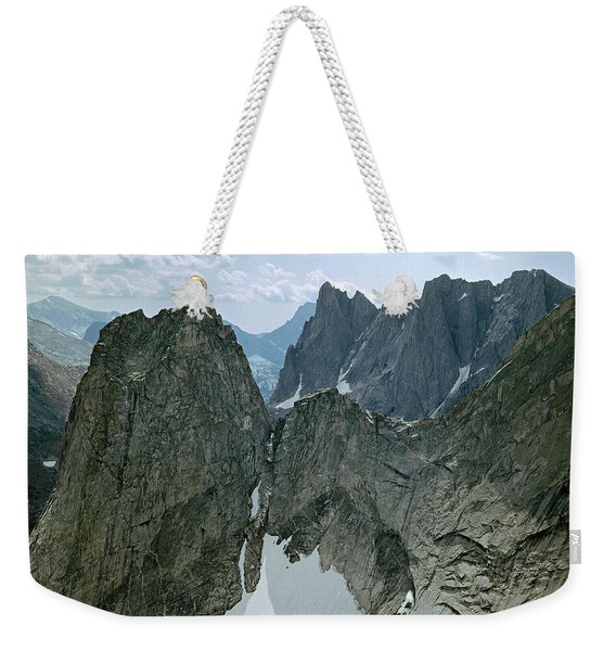 209615-cirque Of Towers, Wind Rivers, Wy Weekender Tote Bag