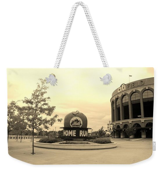 Citi Field In Sepia Weekender Tote Bag