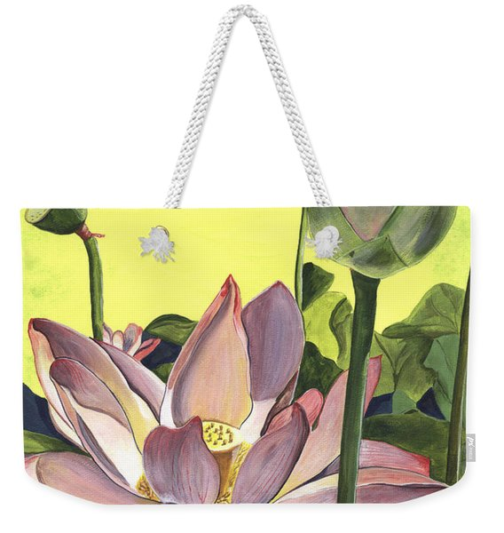 Citron Lotus 2 Weekender Tote Bag
