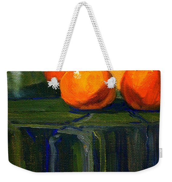 Citrus Chrome Weekender Tote Bag