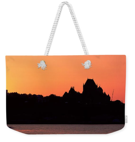 City At Sunset, Chateau Frontenac Weekender Tote Bag