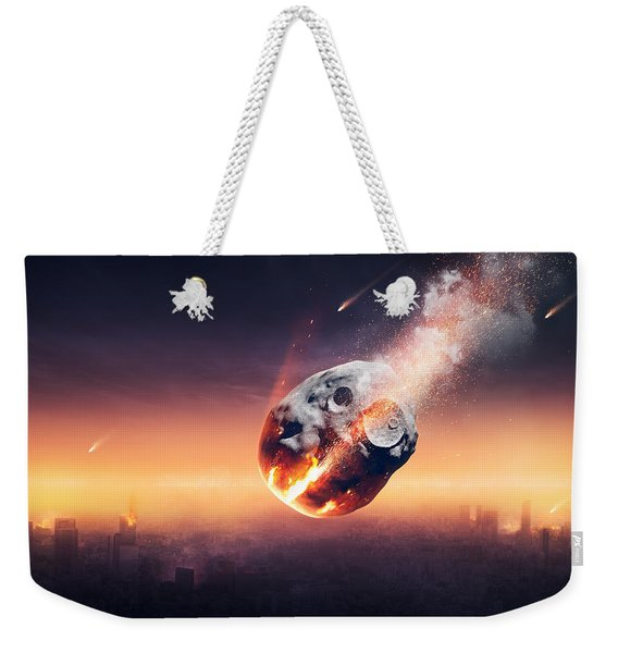City Destroyed By Meteor Shower Weekender Tote Bag