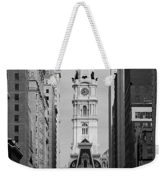 City Hall B/w Weekender Tote Bag