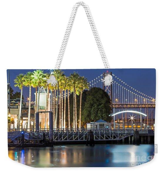 City Lights On Mission Bay Weekender Tote Bag