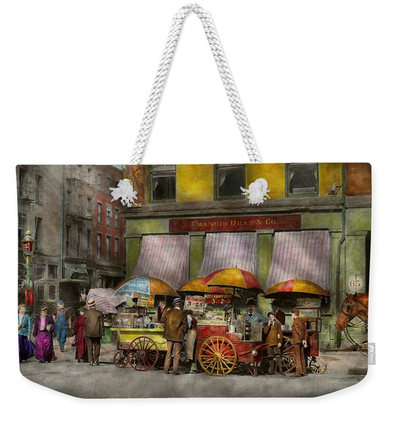City - Ny- Lunch Carts On Broadway St Ny - 1906 Weekender Tote Bag