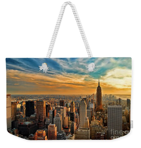 City Sunset New York City Usa Weekender Tote Bag