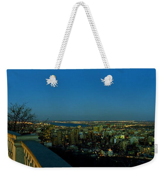 City Viewed From An Observation Point Weekender Tote Bag