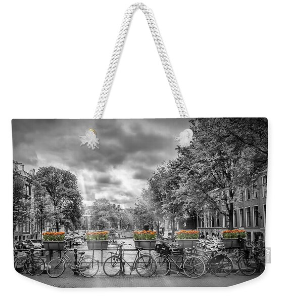 Cityscape Amsterdam Weekender Tote Bag