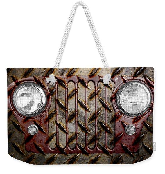 Civilian Jeep- Maroon Weekender Tote Bag