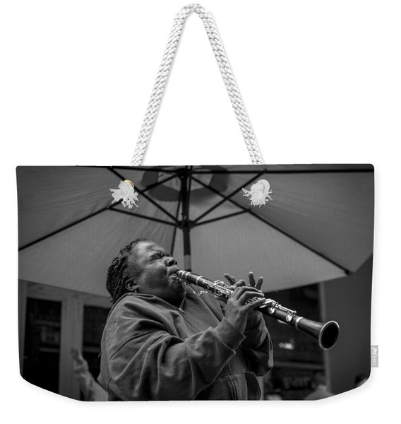 Clarinet Player In New Orleans Weekender Tote Bag