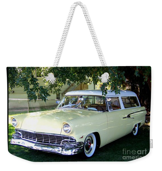 Classic 1956 Ford Ranch Wagon Weekender Tote Bag