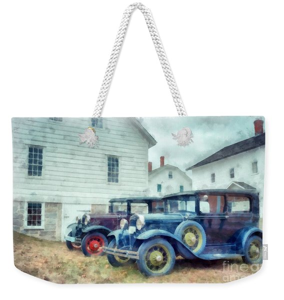 Classic Ford Model A Cars Weekender Tote Bag