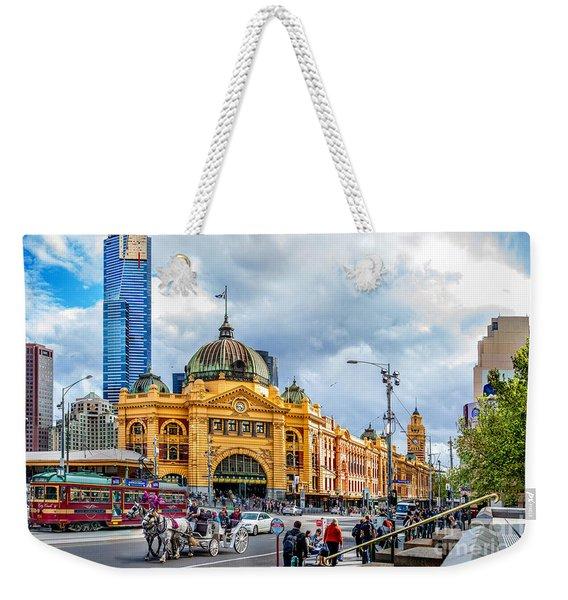 Classic Melbourne Weekender Tote Bag