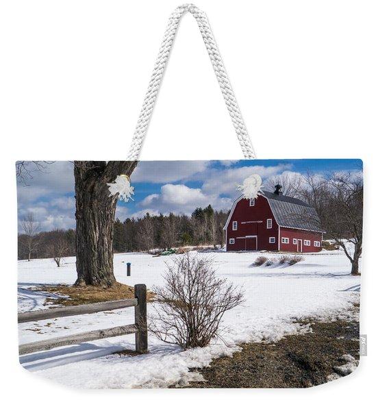 Classic New England Farm Scene Weekender Tote Bag