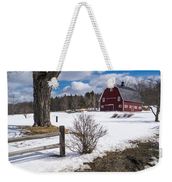 Classic New England Farm Scene Weekender Tote Bag