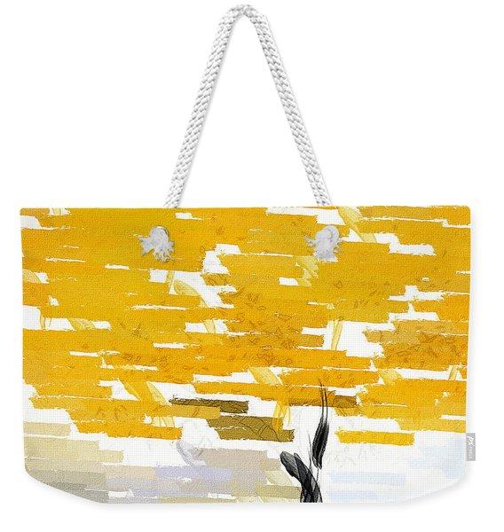 Classy Yellow Tree Weekender Tote Bag