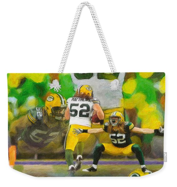 Clay Matthews A Collage Weekender Tote Bag