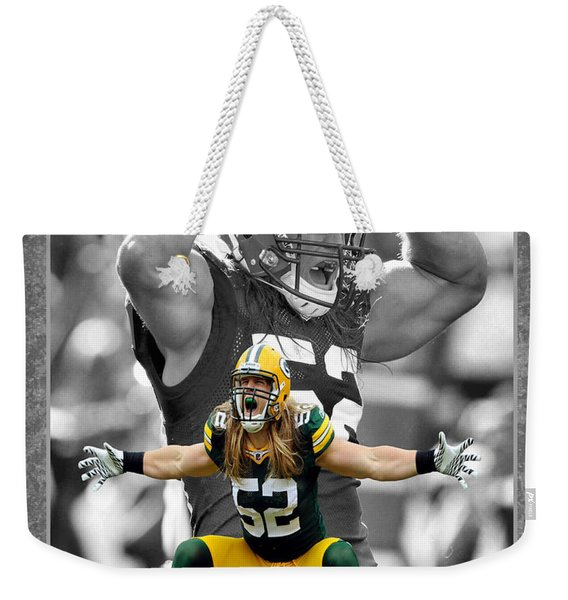 Clay Matthews Packers Weekender Tote Bag