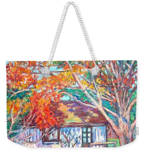 Claytor Lake Cabin In Fall Weekender Tote Bag