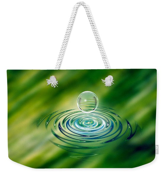 Clear Bubble Rising From Ripples Weekender Tote Bag