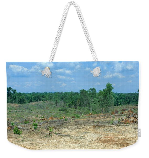Clear Cutting In The Blue Ridge Weekender Tote Bag