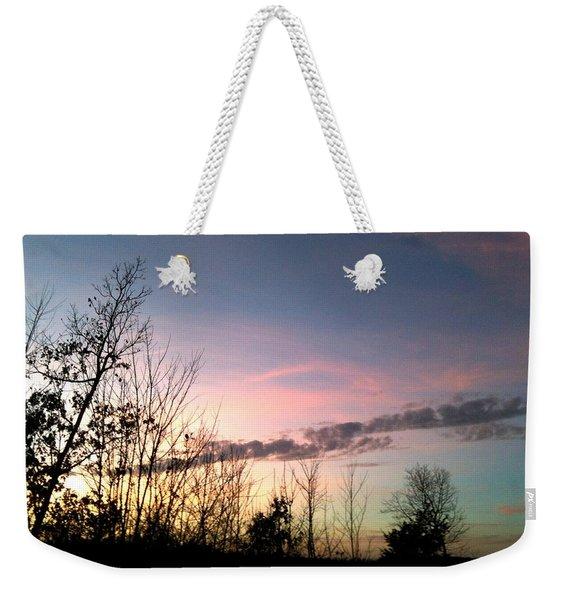 Clear Evening Sky Weekender Tote Bag