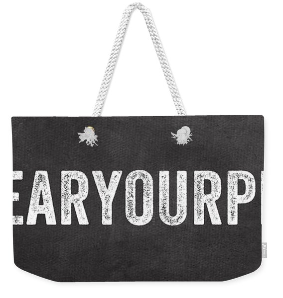 Clear Your Plate Weekender Tote Bag