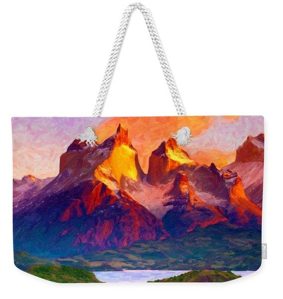 Cleft Summit Weekender Tote Bag