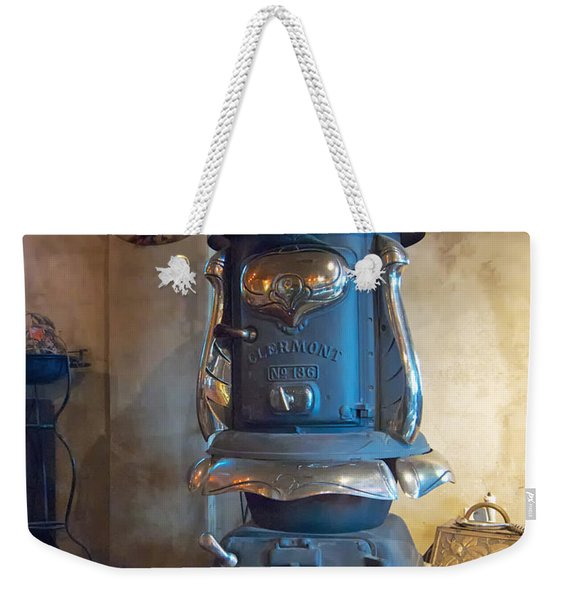 Clermont No 136 Pot Belly Stove Weekender Tote Bag