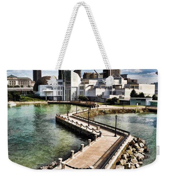 Cleveland Inner Harbor - Cleveland Ohio - 1 Weekender Tote Bag