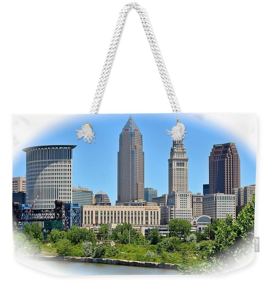 Cleveland Over The Cuyahoga Weekender Tote Bag
