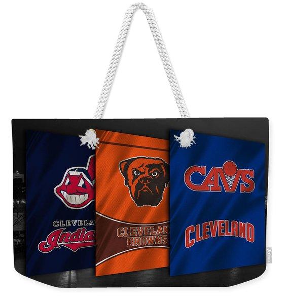 Cleveland Sports Teams Weekender Tote Bag