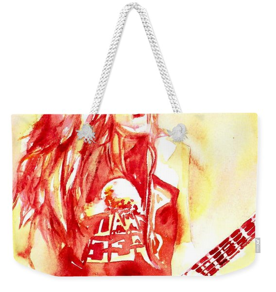 Cliff Burton Playing Bass Guitar Portrait.1 Weekender Tote Bag