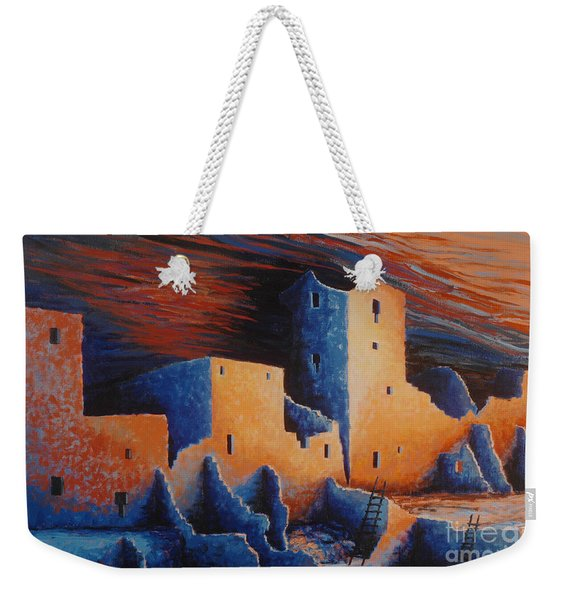 Cliff Palace By Moonlight Weekender Tote Bag